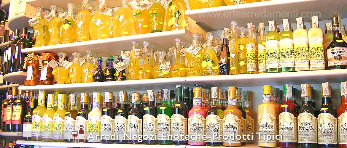 Weinregal Einrichtung Regal Display Likör Limoncello