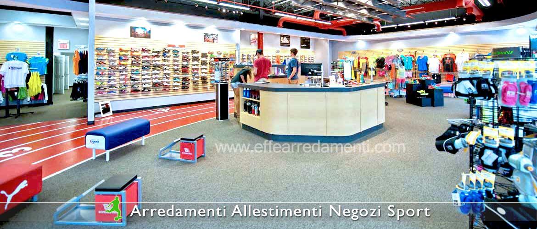 Arredamenti per negozi sportivi effe arredamenti for Piani di costruzione del negozio con alloggi