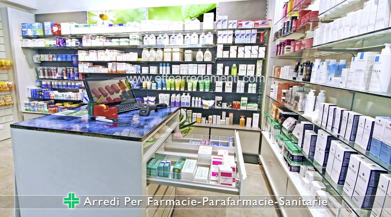 Banco con cassettiere da farmaco per Farmacie e Parafarmacie