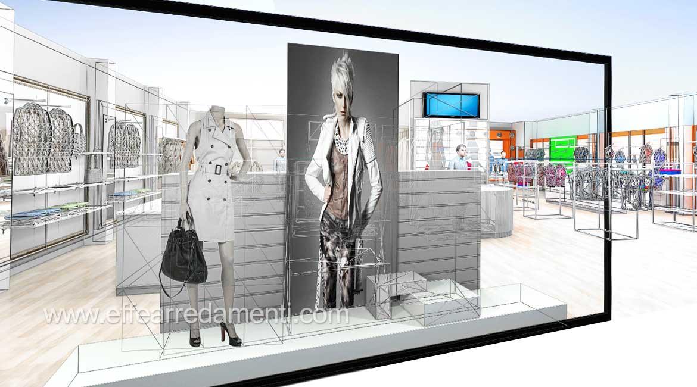 progettazione negozi rendering