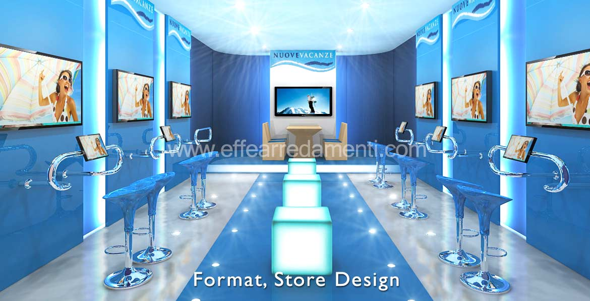 realization of furniture stores in franchising and concept stores
