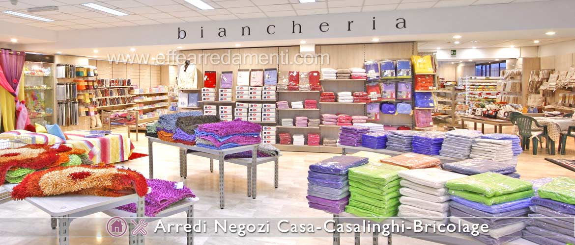 Set up of household linen shop