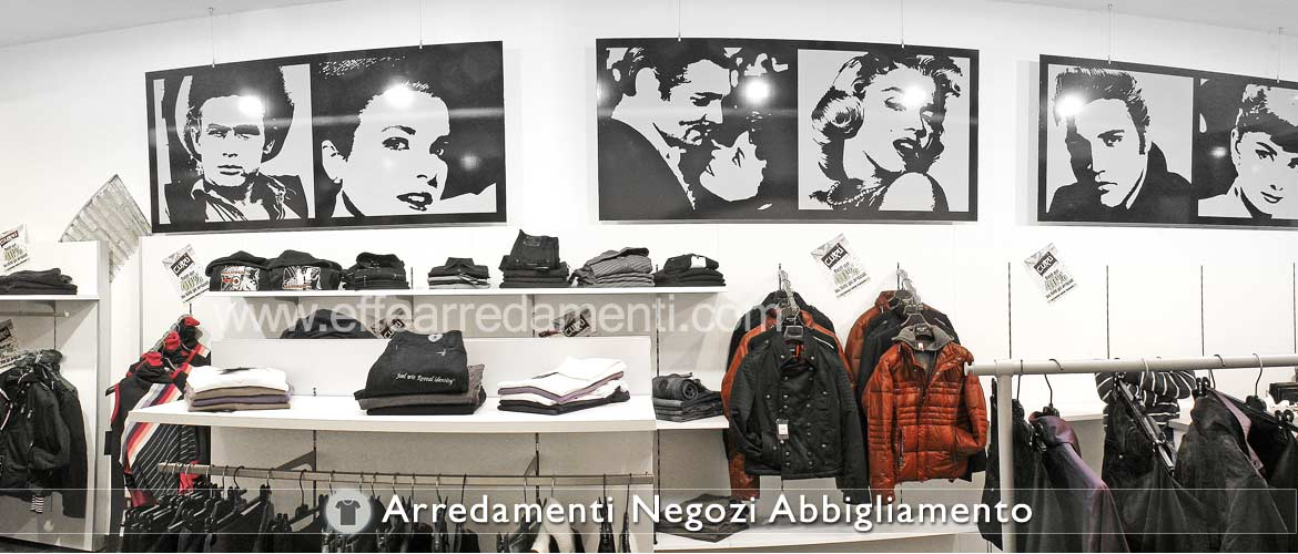 Furnishings walls Equipped for Clothing Store