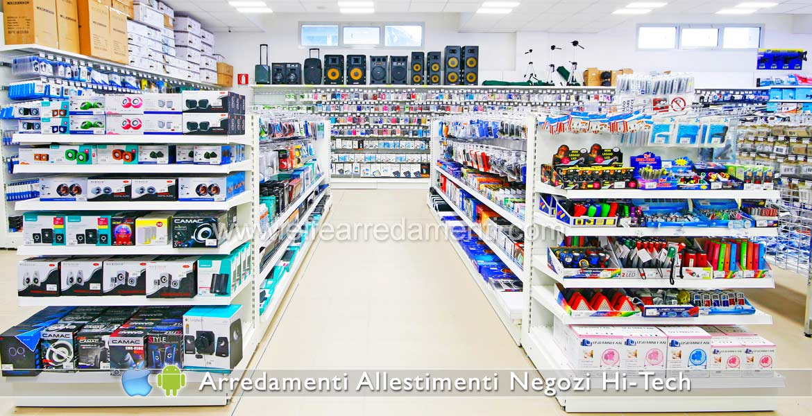 Furniture and Shelves and Gondolas for Electronic Shop