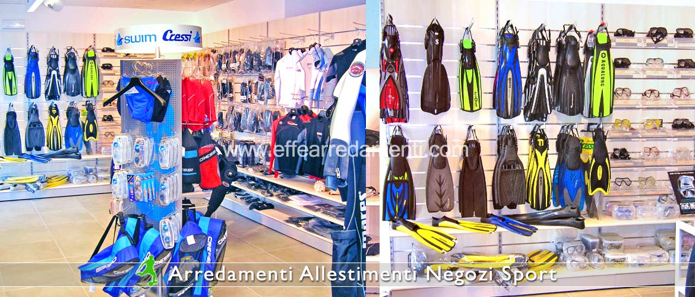 Arredamenti per negozi sportivi effe arredamenti for Fucili arredamenti