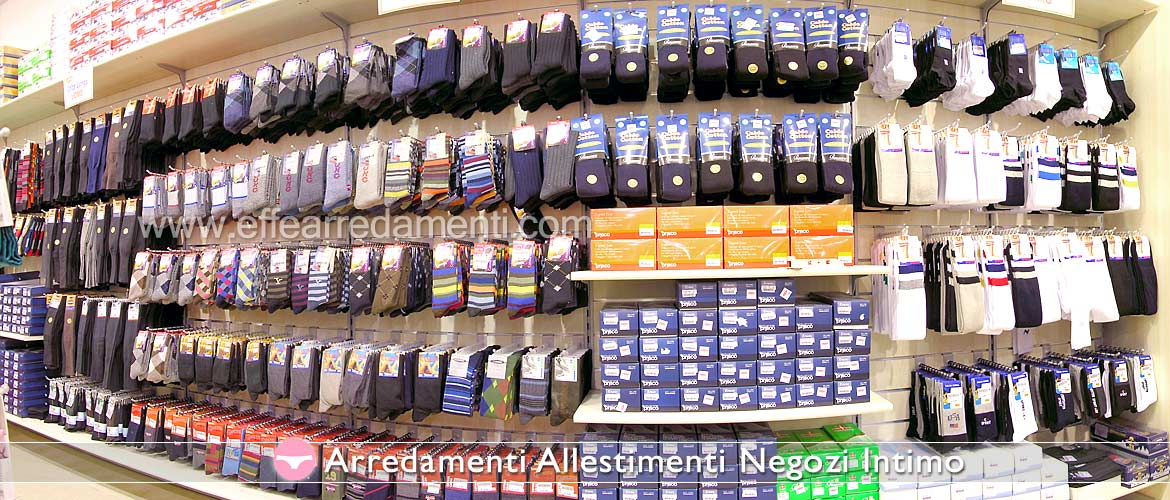Wall Equipped for Intimate Store Exposure Hosiery