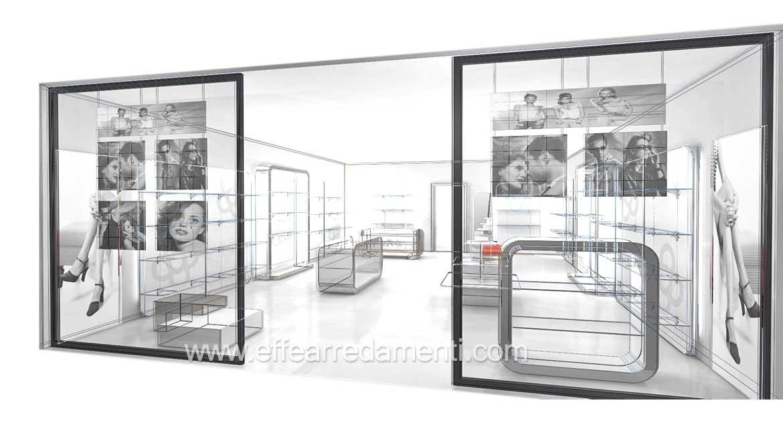 progettazione arredamenti negozi franchising