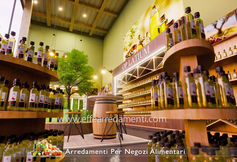 Arredamento per Negozio di Olio e Prodotti Tipici presso Frantoio Oleificio
