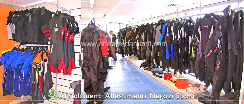 arredamenti per negozi sportivi - effe arredamenti - Negozi Arredamento Erba