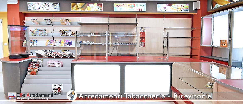 Arredamenti per tabaccherie ricevitorie effe arredamenti for Arredamento vetrine