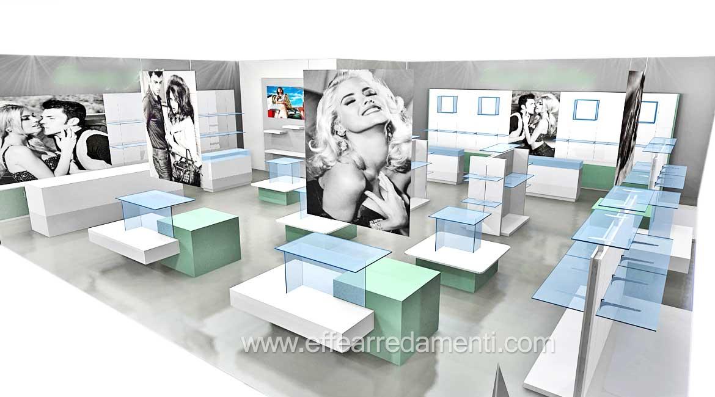 progettazione negozi 3d