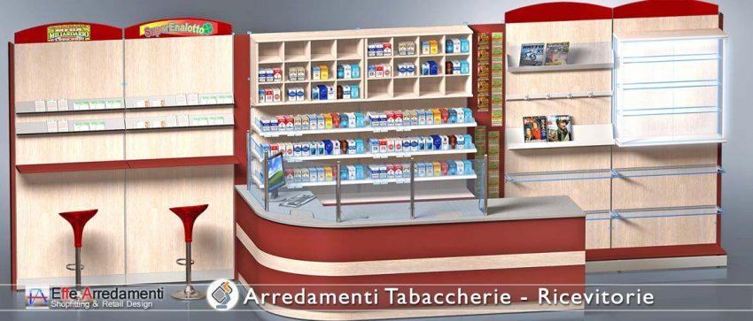 Arredamenti per Tabaccherie Ricevitorie Bar- Effe Arredamenti