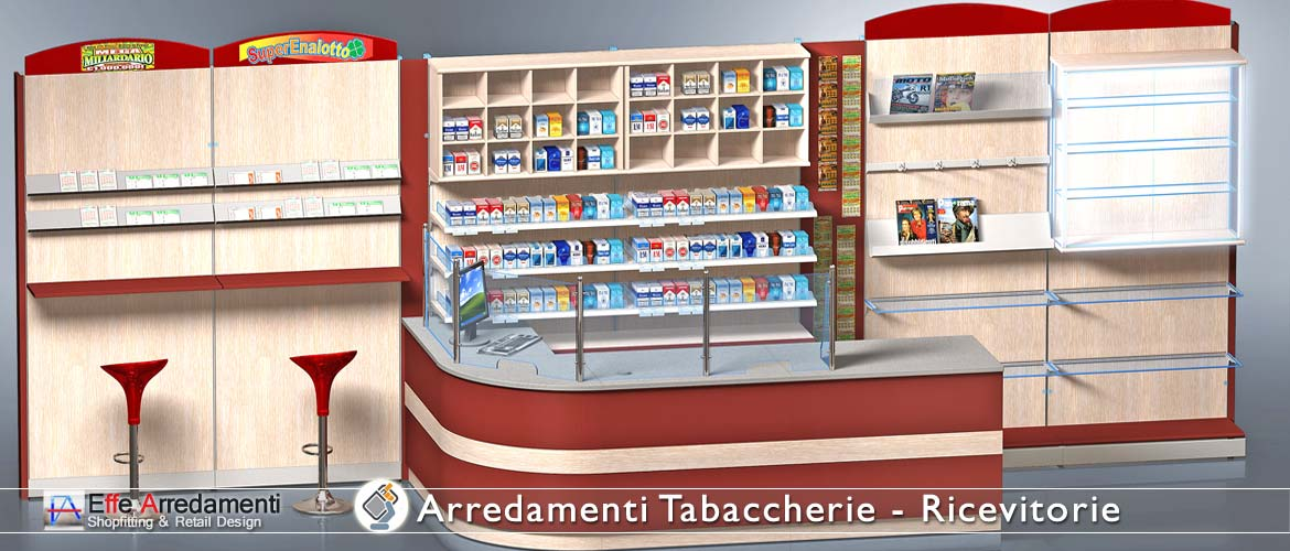 Modular Walls Equipped for Tobacco Shops