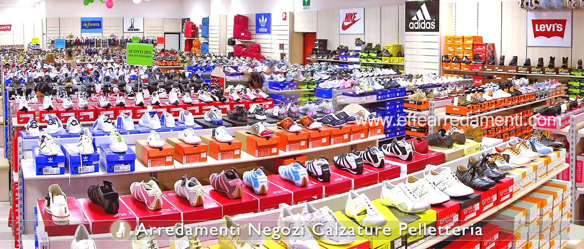 Large furniture shop sports footwear