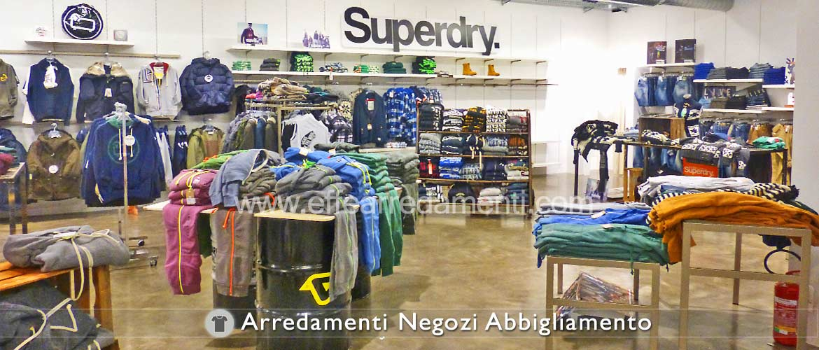 Superdry corner clothing store furniture