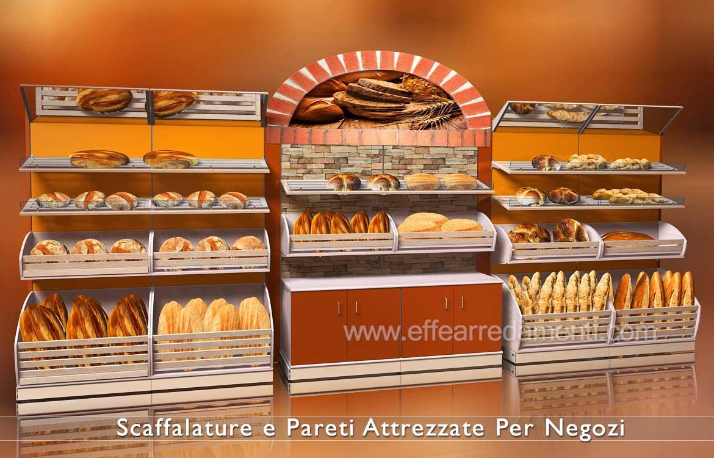 Scaffalature in legno per Panetterie Panifici e alimentari