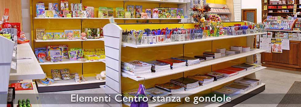 Gondole per negozi e scaffali a gondola effe arredamenti for Piani di garage con lo spazio del negozio