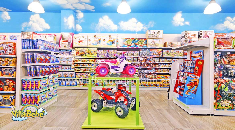 家具和玩具店的货架
