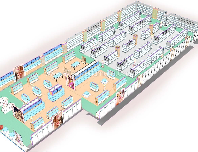 Progetto per grande negozio di Profumeria e prodotti per la casa e pulizia del corpo