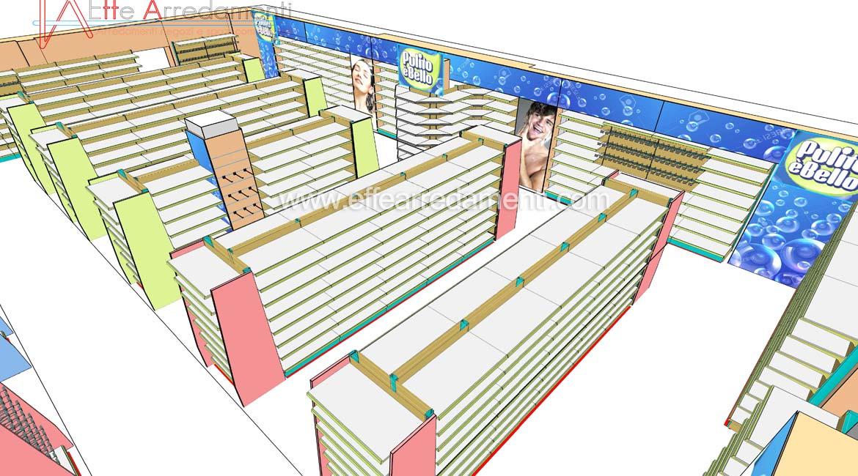 Progetto Arredamento e scaffalature per negozio a Verona
