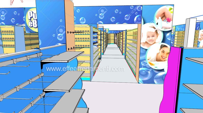 Progetto arredo negozio pulizia casa igiene persona Verona