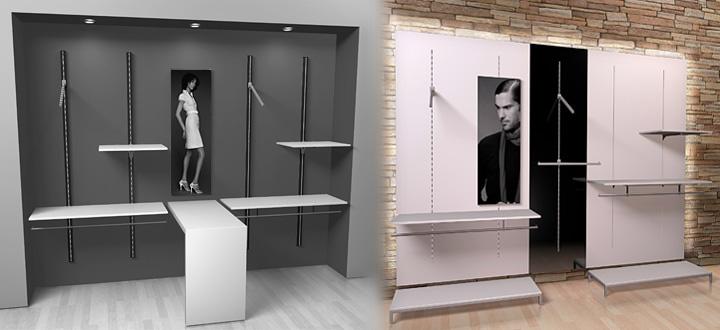 Modular Möbel für Geschäfte