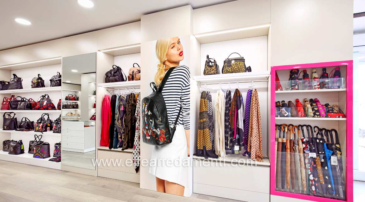 Wall-mounted Display Cabinets For Bags, Accessories and Umbrellas Bastia Umbra