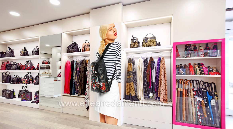 壁挂式展示柜适用于箱包,配件和雨伞巴斯蒂亚温布拉