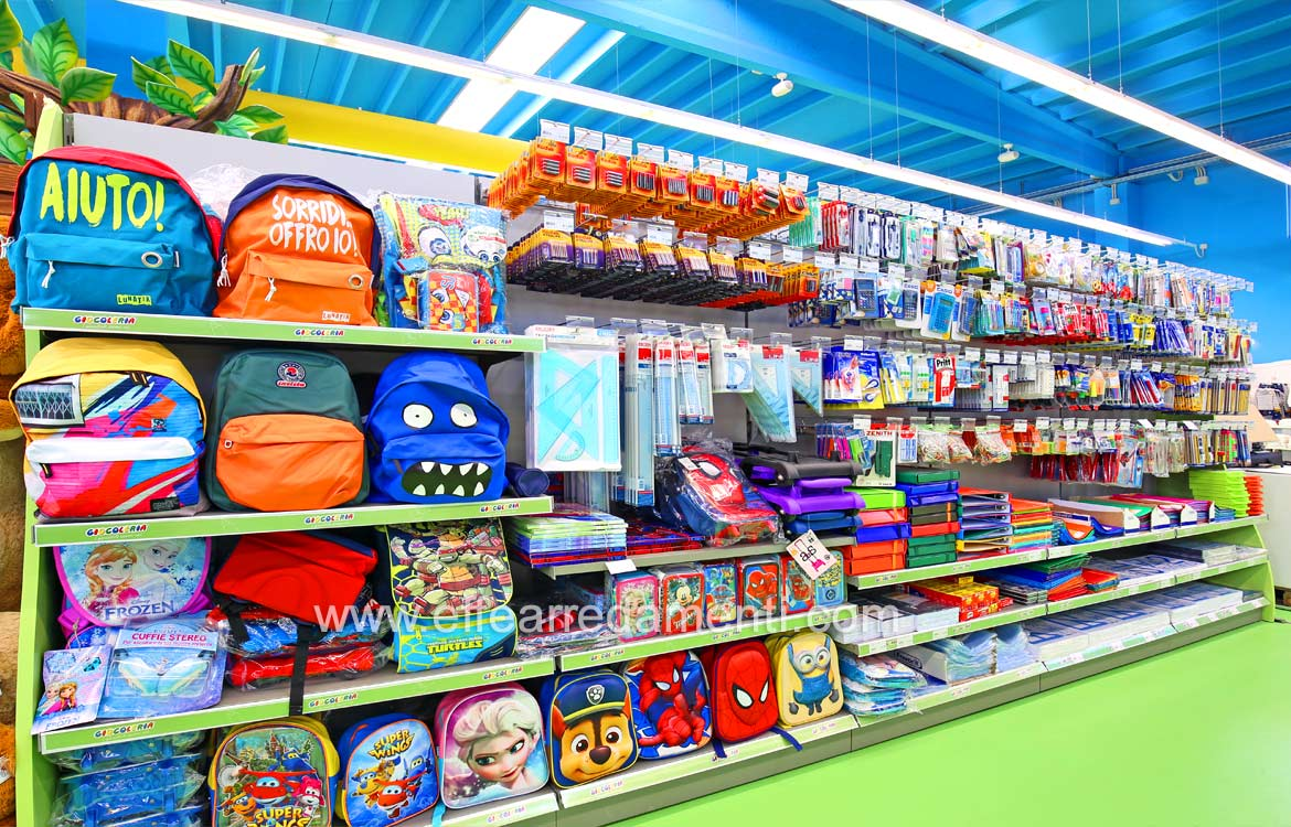 Stationery area furnishings and products for the Children's School