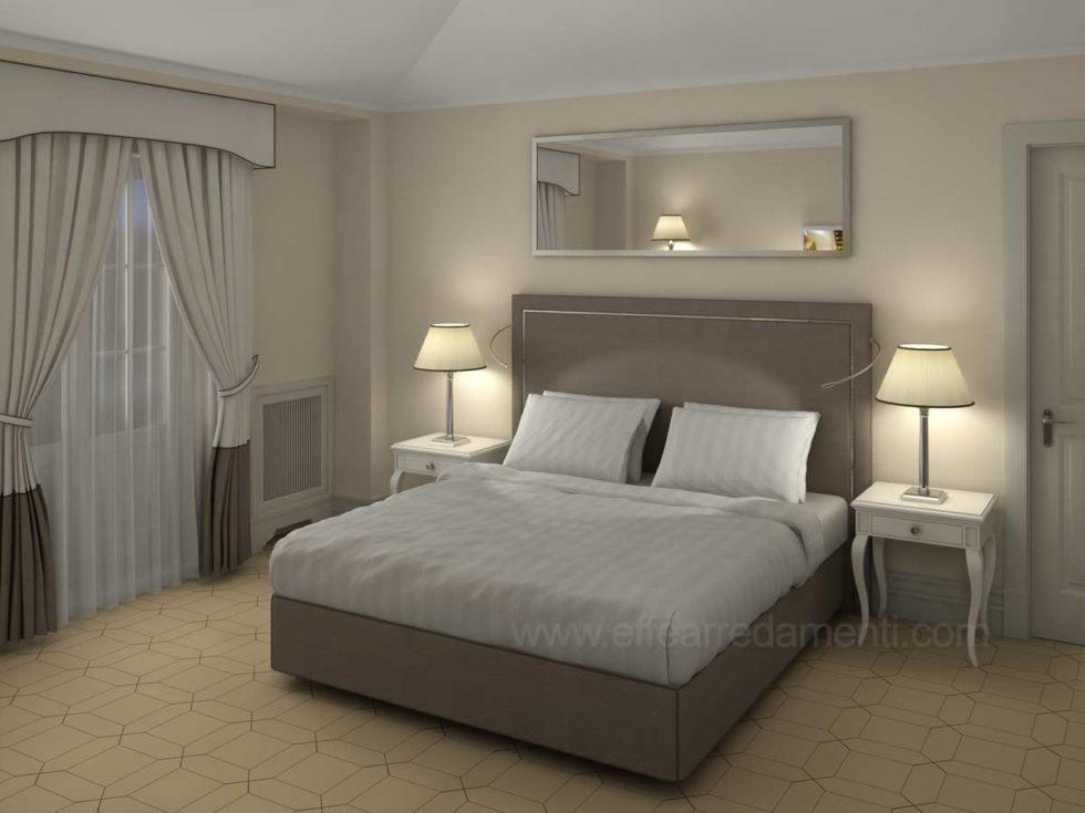 Progetto Camere stile classico contemporaneo Hotel