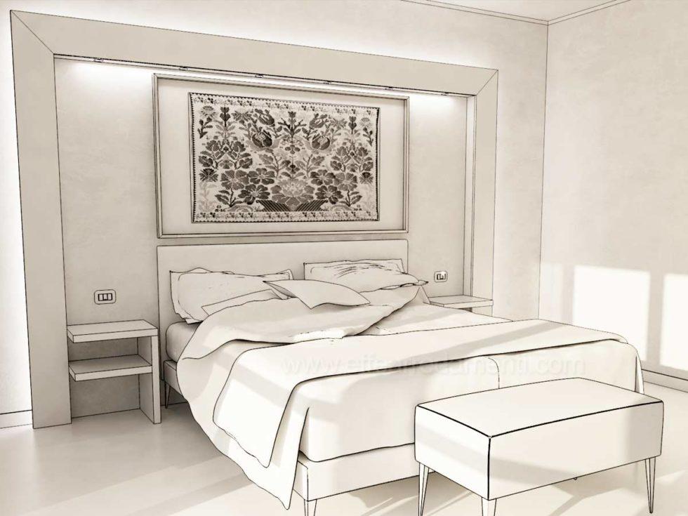 Progetto camere disegno Hotel