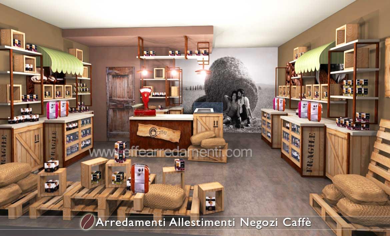 Esempio Concept arredamento negozio Caffè