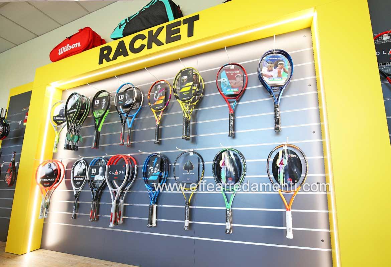 Arredamento Esposizione Racchette Tennis